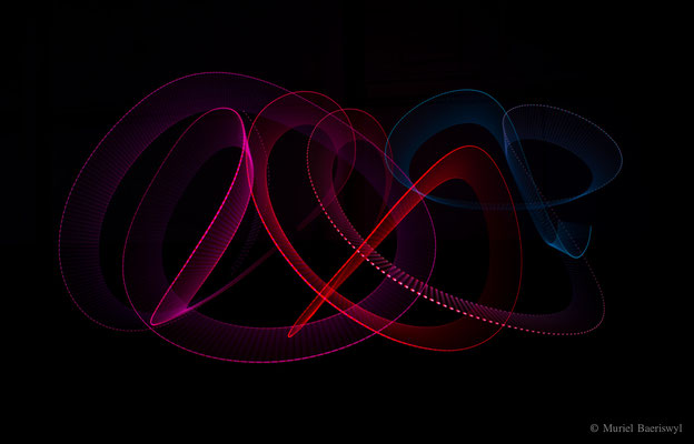 Light art performance photography