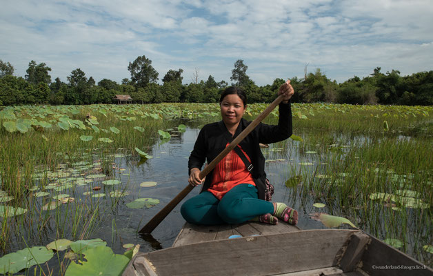Lotusteich beim Banteay Srey