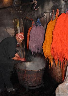 Färber in der Medina in Marrakesch