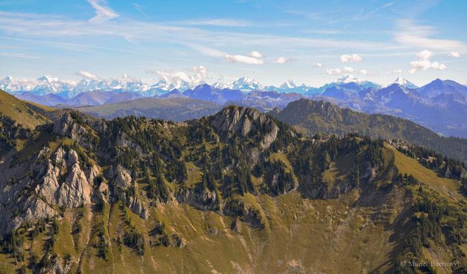 Ausblick vom Spitzfluh Schwarzsee