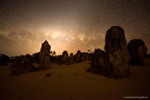 Sternenhimmel über den Pinnacles