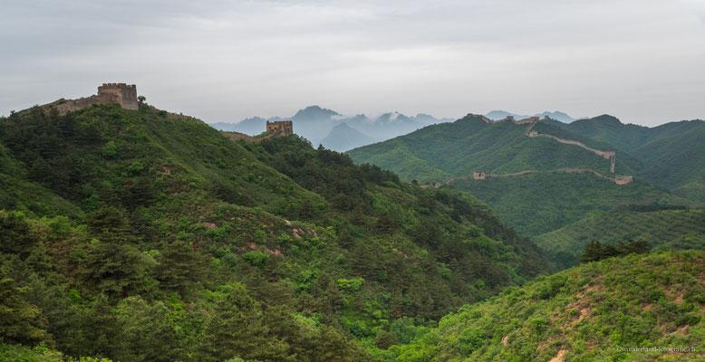 Chinesische Mauer am frühen Morgen