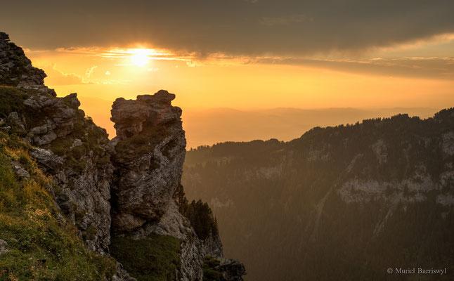 Niederhorn bei Sonnenuntergang