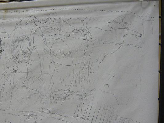 Fac similé des relevés de la grotte de ROUCADOUR (Thémines)