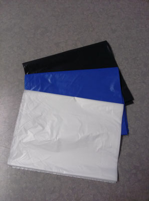 Every chemical set includes a mixing bag. Choice of Black, Blue, Clear/natural colors.