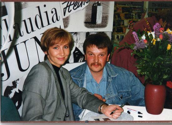 Claudia Jung & Frank Kraft - 1994 bei einer Autogrammstunde in Wetzlar (Hessen)