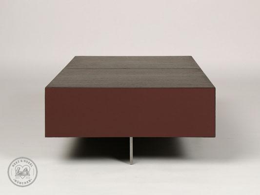 Couchtisch | Wenge, Kirschbaum, Linoleum, Stahl