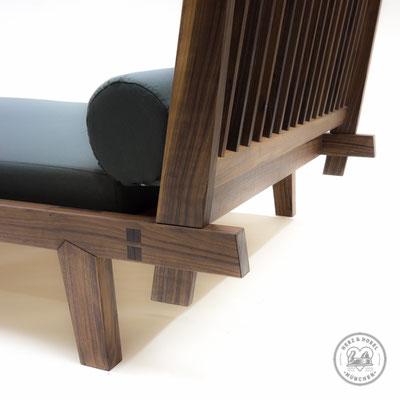 Tagesbett | Details traditioneller japanischer Holzverbindungen