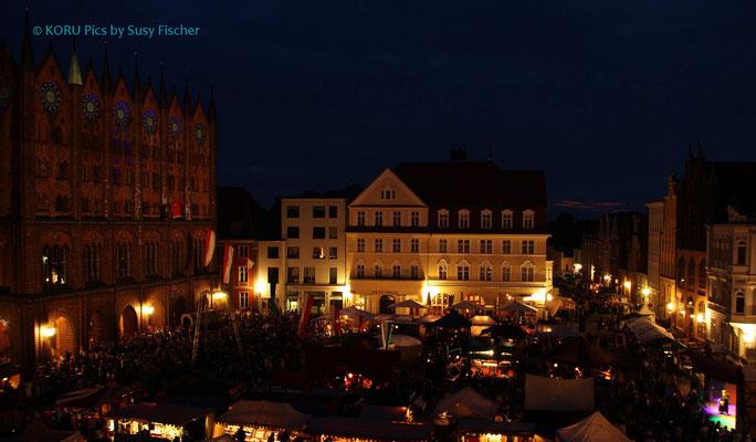Stralsund Marktplatz vom Hoteldach aus :-)