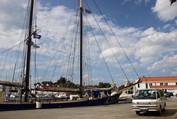 Einchecken in Tananger - unser Segelschiff Zephyr
