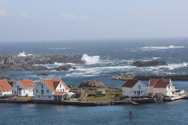Skudeneshavn - die Wellen sind noch zu hoch