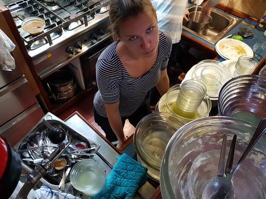 Wenn der Abwasch für 28 Leute nicht immer wäre....