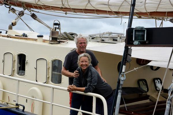 Unsere Skipper Jan und Lausina