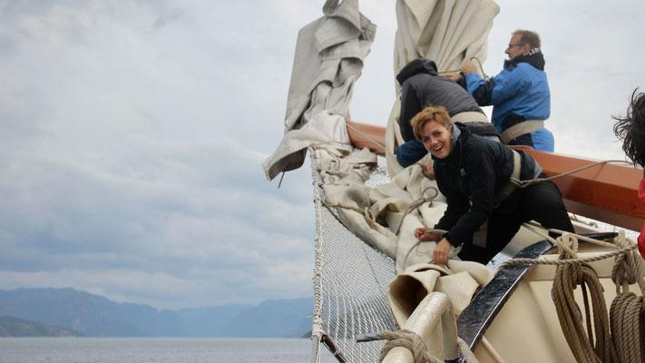 mit vollen Segeln nach Forsand, dem Tor zum Lysefjord