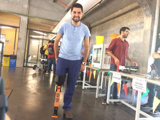 Probando la pierna imprimible Drakkar