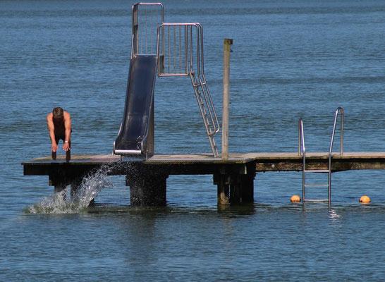 Der Sprung in den See ist zum Greifen nah!