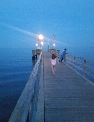 Ein Abend auf der Seebrücke