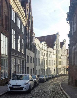 typische Gasse in der Marzipan-Stadt Lübeck
