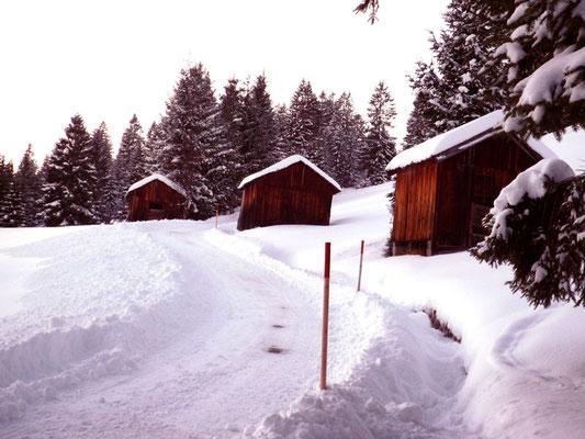 Winterwanderweg in Innergschwend