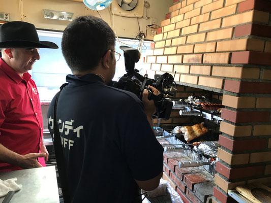 Churrasqueira(シュハスケイラ)で炭火焼きされるお肉を撮影