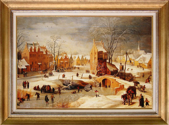 Brueghel, les patineurs