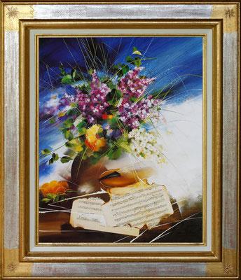Poulet, lilas