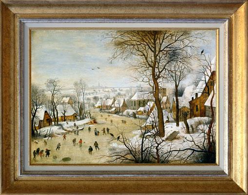 Brueghel, paysage de neige