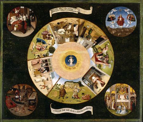 Bosch, Les Sept Péchés capitaux et les Quatre Dernières Étapes humaines