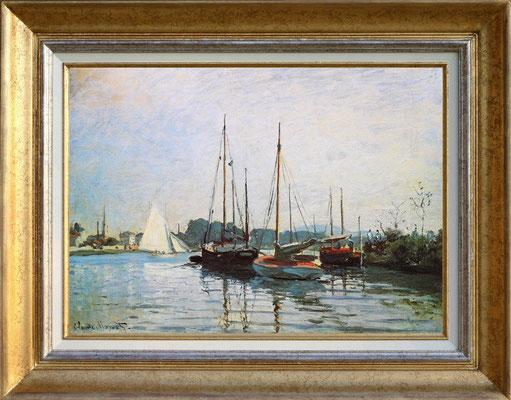 """Monet """"voiliers à Argenteuil"""""""