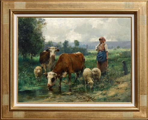 Dupré, la bergère et son troupeau