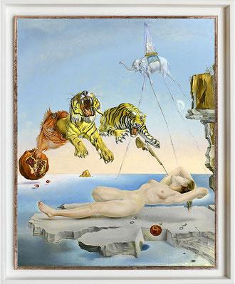 Dali, rêve causé par le vol d'une abeille autour d'une grenade