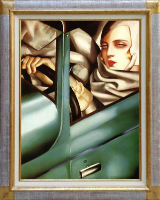 Lempicka, autoportrait à la Bugatti verte