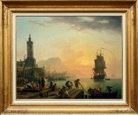 Vernet, calme dans un port de Méditerranée