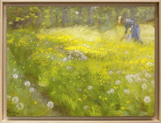Kroyer, Marie Kroyer dans le jardin à Skagen