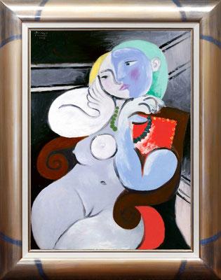 Picasso, nu au fauteuil rouge
