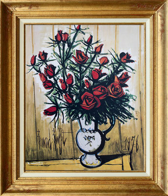 Buffety, roses rouges