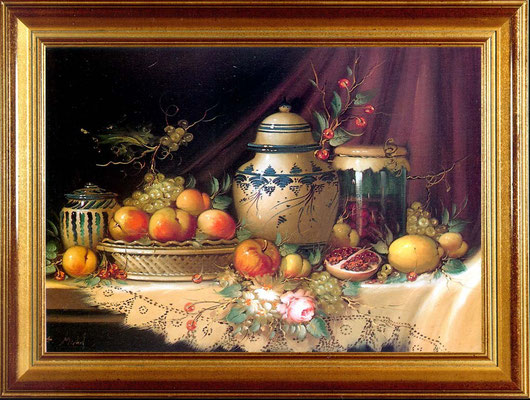 Michel, porcelaine et fruits