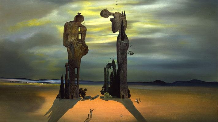 Dali, reminiscence archéologique: l'Angélus