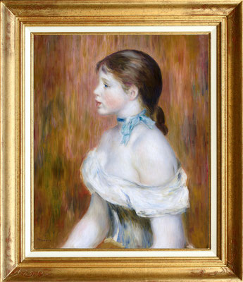 Renoir, jeune fille au foulard bleu