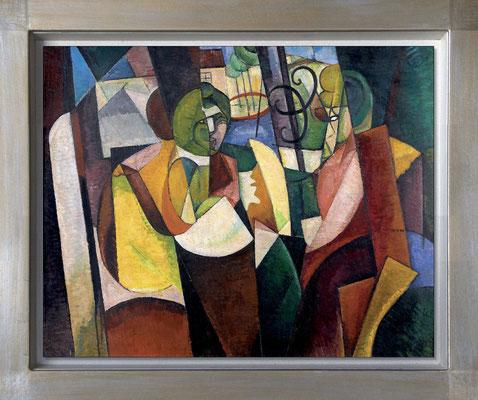 Gleizes, femmes devant une fenêtre