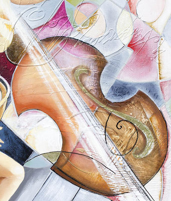Joëlle Tissot, le soubassophone - détail du violon