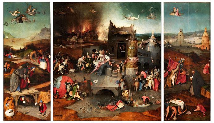 Bosch, la tentation de St Antoine