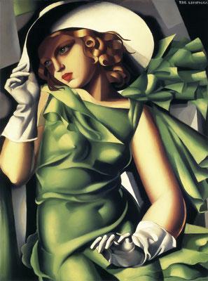 Lempicka, jeunes femme aux gants gris