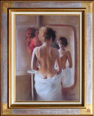 Domingo, nu au miroir