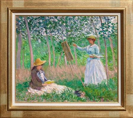 """Monet """"le peintre et son modèle"""""""