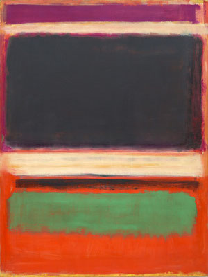 Rothko, n°13 magenta, black, green ou orange