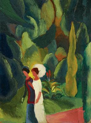 Macke, femmes dans un parc