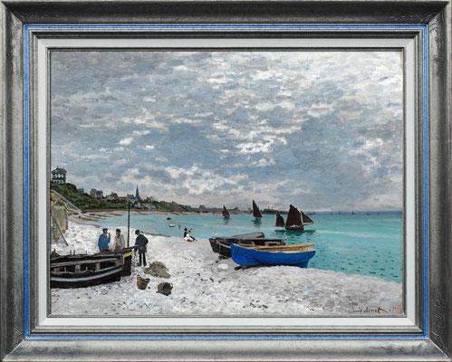"""Monet """"plage de St Adresse"""""""