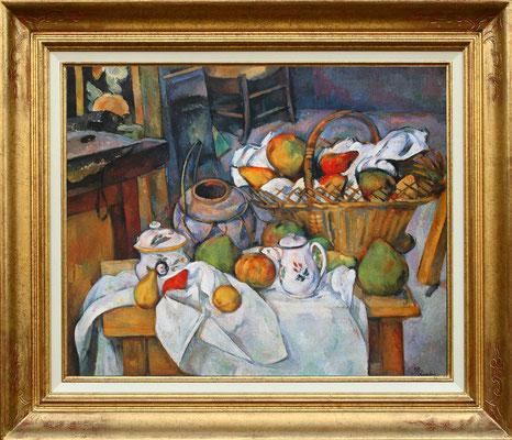 Cezanne, natuyre morte au panier
