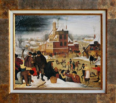 Brueghel, les patineurs en hiver